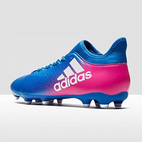 adidas X 16.3 FG, Botas de Fútbol Para Hombre azul,rosa