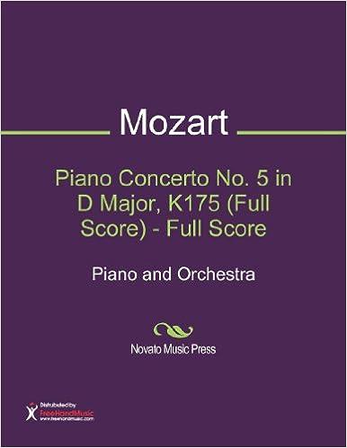 Piano Concerto No. 5 in D Major, K175 (Full Score)