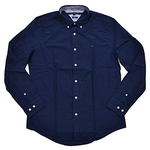 Custom Button Down Shirts (Tommy Hilfiger Mens Custom Fit Long Sleeve Buttondown Shirt (Navy, M))