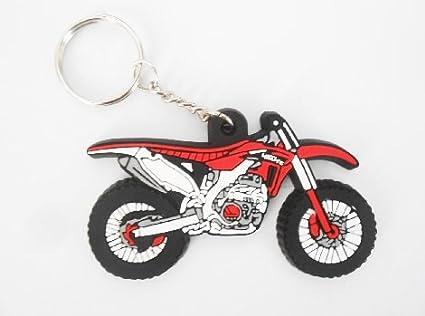 Keychains llavero - Moto Honda Color - Motocross Red - Key ...