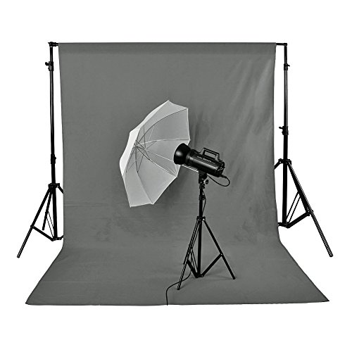 Neewer 3 x 6M/10 x 20ft Photo Studio 100% Pure Muslin Collapsible Backdrop Background GREY by Neewer