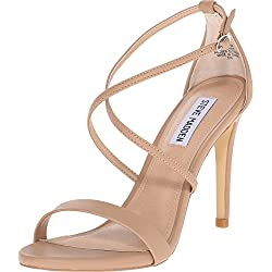 Steve Madden Women's Feliz Dress Sandal, Natural, 9 M US