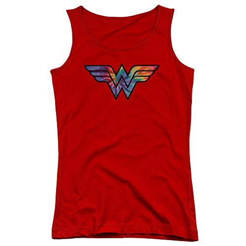 Pour Jeune À Débardeur Dye Femme Woman Red Tie Logo Wonder qPY04Y