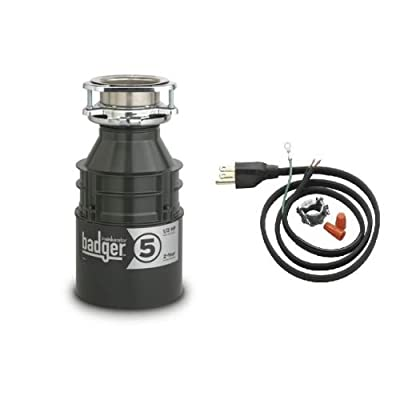 InSinkErator Badger 5 Badger 1/2 HP Garbage Disposal with Soundseal Technology,