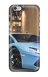 High Impact Dirt/shock Proof Case Cover For Iphone 6 Plus (lamborghini Aventador Blue) 1141003K91200255
