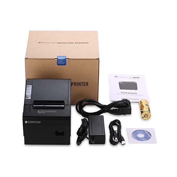 Everycom 80mm Thermal Printer with Auto Cutter - USB + LAN Interface (EC801B)