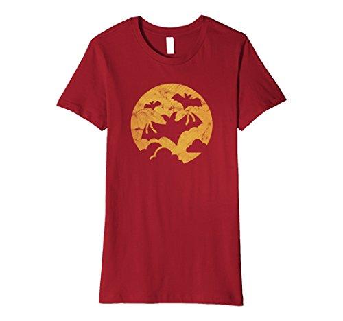 Full Moon Party Costume Ideas (Womens Full Moon - Bats - Halloween Costume - Cool Bat Shirt Small Cranberry)