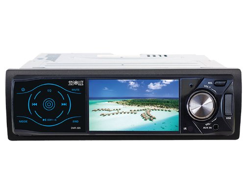 Absolute USA DMR-395 3.5-Inch DVD/MP3/CD Multimedia Player Widescreen Receiver with USB, SD Card and Front Panel AUX Input