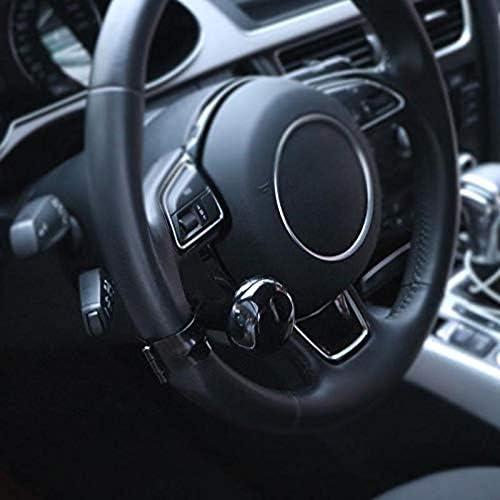 Bouton de spinner de boule de commande de volant universel de voiture Booster auxiliaire de contr/ôle de poign/ée Fibre de carbone Spinner de volant de puissance de voiture