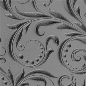 Ceramic Texture Mold (Cool Tools - Flexible Texture Tile - Leaves & Dots Embossed - 4