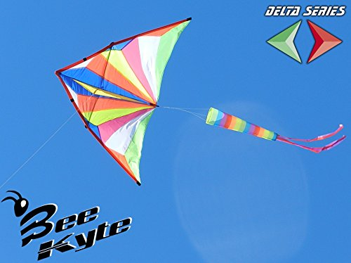 Bee-Kite SideKick - Cerf-volant planeur monofil 200 x 100 cm. avec queue stabilisateur - Prêt à voler avec câble et enrouleur de câble inclus