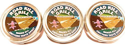 Dean Jacob's Road Kill Grill Seasonings ~ 2.4 oz. Tins (Pack of 3)