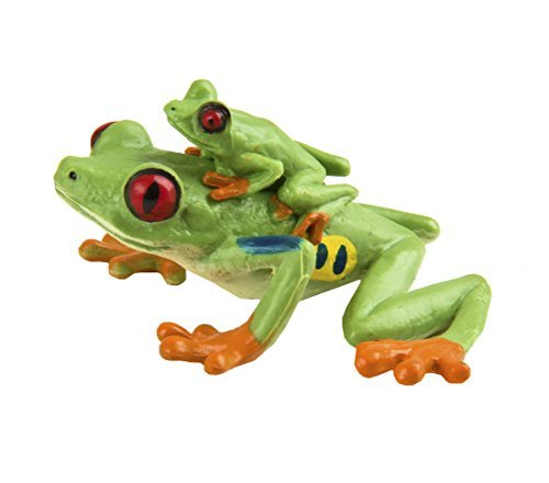 Safari Ltd. Red Eyed Tree Frog - Realistic Hand Painted Toy Figurine Model - Quality Construction from Phthalate, Lead and BPA Free Materials - for Ages 3 and ()