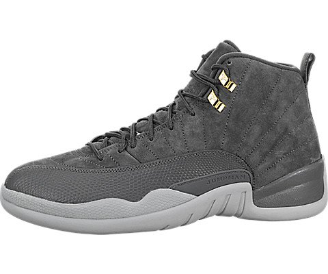 Jordan Men's Retro 12 Dark Grey/Wolf Grey