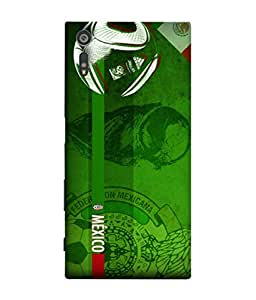 ColorKing Football Mexico 07 Green shell case cover for Sony Xperia XZ