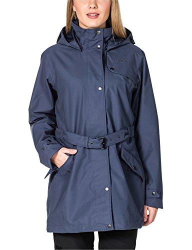 Jack Wolfskin Mujer meteorológica Chaqueta de protección muconda Coat W Azul - Blue Indigo