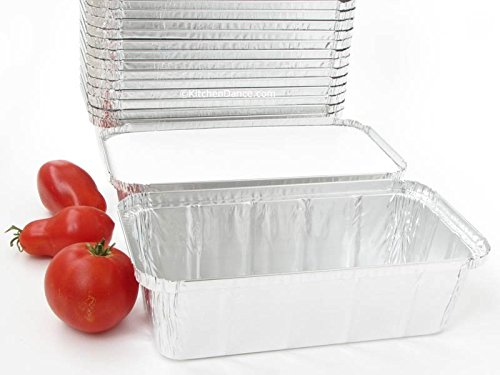Disposable Aluminum Closeable Loaf Pans with Board Lids #212L- 33 oz. by D & W (A86) (500)