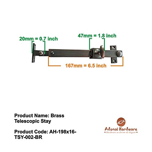 Adonai Hardware Brass Telescopic Casement Sliding Window Stay (Oil Rubbed Bronze)- Supplied as 2 Pieces per Pack by Adonai Hardware (Image #5)