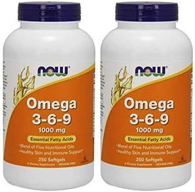 Now Omega 3-6-9 1000 mg, 485 Softgels (485 Count)…