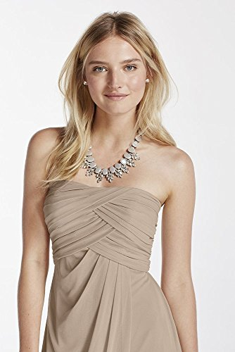 Mesh Short Strapless Bridesmaid Dress with