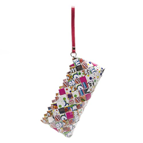 Candy Clutch Recycled Candy Wrapper Wristlet - Blow Pop