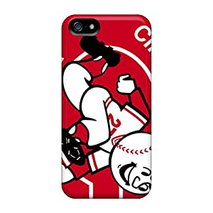 Iphone 5/5s PIq8422JpyK Support Personal Customs Beautiful Cincinnati Reds Image Excellent Cell-phone Hard Cover -JoanneOickle