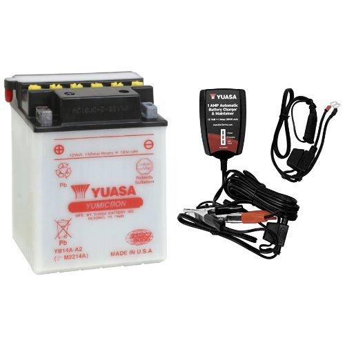 YUASA YUAM2214A YB14A-A2 Battery and Automatic Charger Bu...