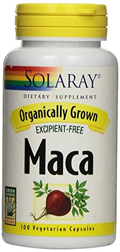 Solaray Organically Grown Maca Root Supplement, 500 mg, 100 Count