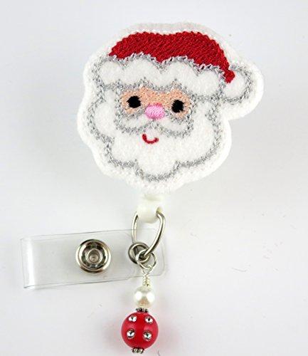 Christmas Happy Santa - Nurse Badge Reel - Retractable ID Badge Holder - Nurse Badge - Badge Clip - Badge Reels - Pediatric - RN - Name Badge Holder
