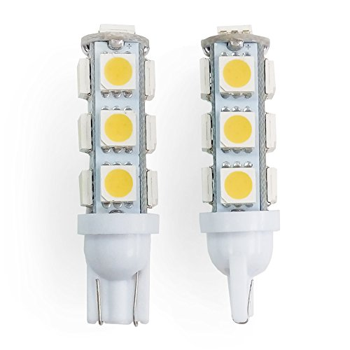 RV LIGHTING Two (2) Eco-LED Warn White LED 921 Bulb, with 9 SMD 5050 & Miniature Wedge T10 Connector (921-WW13M2)