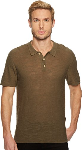 7 For All Mankind Men's Short Sleeve Sweater Polo Army XX-Large (All For Mankind Sweater 7)