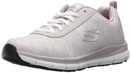 Skechers Donna Comfort Flex Hc Pro Sr Assistenza Sanitaria Scarpa Grigio Chiaro