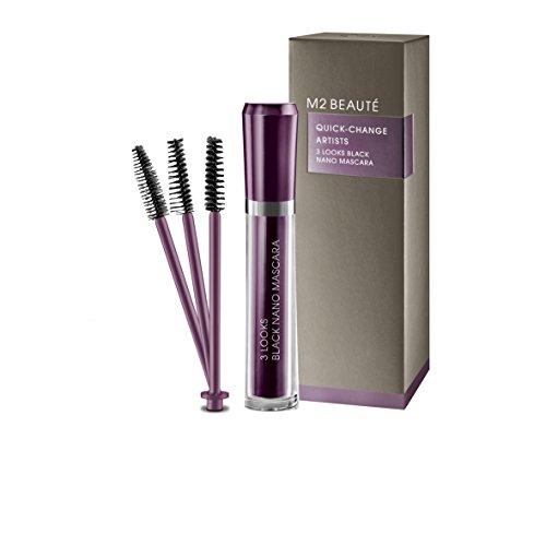 M2Beaute Mascara & Eyelash Activating Serum 5ml - 3 LOOKS BLACK NANO MASCARA with 5ml Eyelash growth Serum & M2Beaute Gift Box by M2Beaute (Image #3)