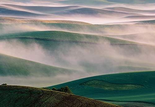 (Ideal Décor Foggy Hills Wall Mural, Multicolor)