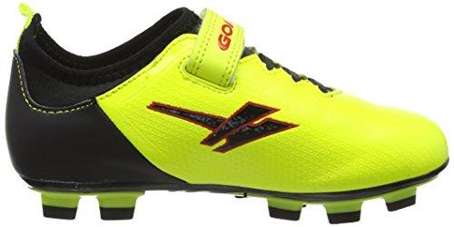 Gola Alpha Blade,Velcro, Botas de Fútbol Unisex Niños Amarillo (Volt/black)