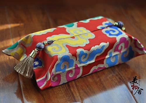 Viet-ST Cajas de pañuelos de algodón Estilo Chino Personalizadas para Sala de Boda, Coche, Hotel, Ropa de Cama, Decorativa,...