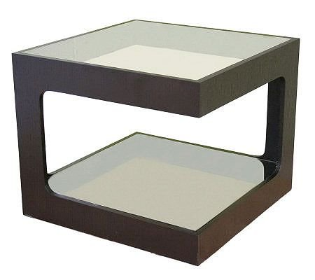 UPC 878445006549, Clara Glass Square Side Table - Finest Home Furnishing