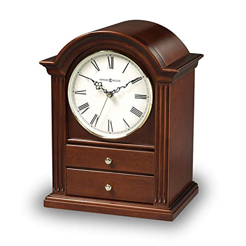 OneWorld Memorials Heritage Clock Wood Cremation Urn - Extra Large - Holds Up to 275 Cubic Inches of Ashes - Brown