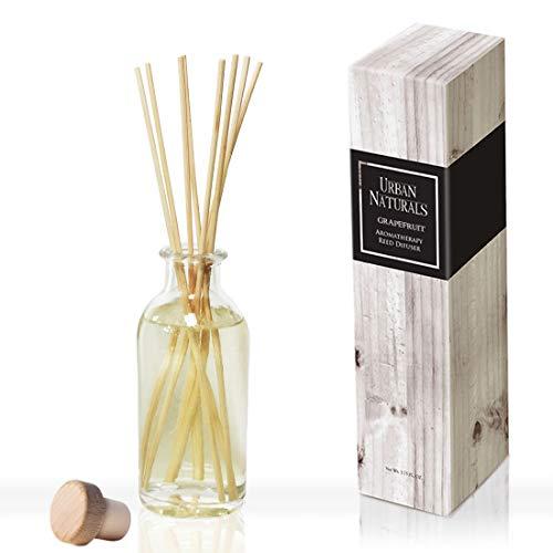 Citrus Home Fragrance - Urban Naturals Tart Grapefruit Reed Diffuser Oil Set | Fresh Citrus Scented Fragrance Oil | Bergamot Essential Oils & Tart Greens | Home Gift Idea. Vegan.