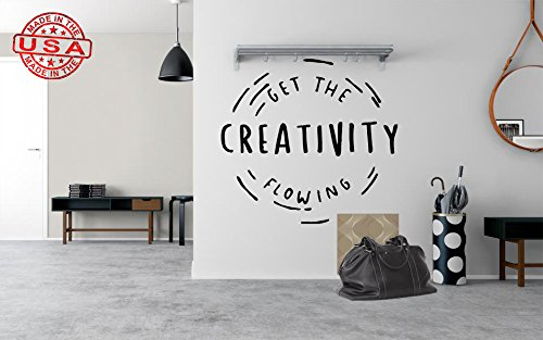 Creativity quote wall decal, creativity quote sticker, be creative wall quote, motivational quote decal, trendy decal quote pf8 (46'' x 46'') by PillowFigtArt