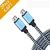 Android Charging Fast Charge Micro USB Charger Cord 6FT 2Pack Cable for Samsung Galaxy S6 S7 J3 J7 Edge Note 5 Moto Droid Turbo LG G4 V10 Stylo 2 3 HTC One Kindle Fire