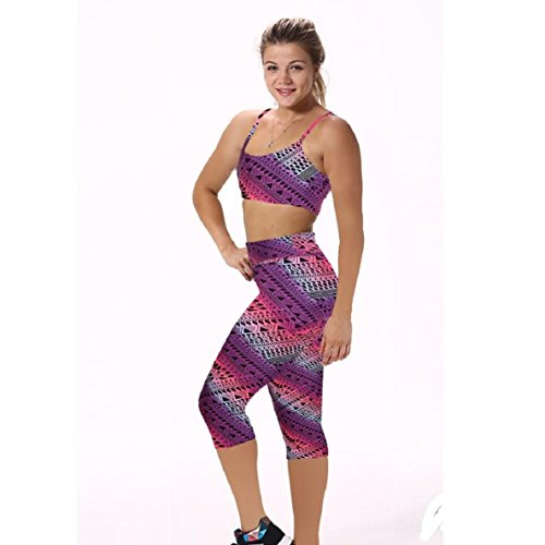 Lookatool Women's High Waist Fitness Yoga Sport Pants (L, Purple (And 1 Athletic Pants)
