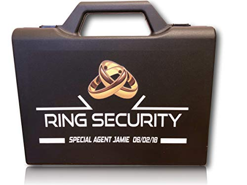 Personalized Ring Security Case - Ring Bearer Case Box - Wedding - Pillow Alternative