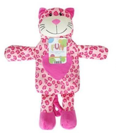 Kids Cute, Fun Novelty Pink Leopard Hot Water Bottle -1 Litre Capacity