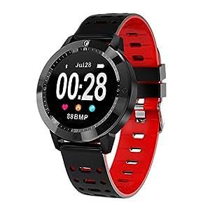 ZZXXCC Reloj Inteligente Hombres Reloj Impermeable Reloj De Fitness Monitor De Ritmo Cardíaco Reloj Deportivo Smartwatch: Amazon.es: Deportes y aire libre