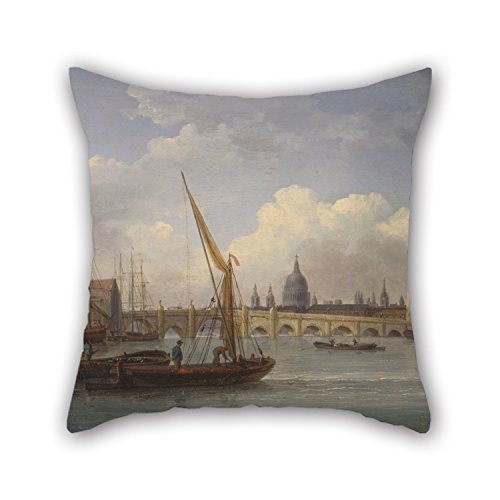 [Alphadecor Oil Painting William Anderson - London Bridge, With St. Paul's Cathedral In The Distance Pillowcover 20 X 20 Inches / 50 By 50 Cm Gift Or Decor For Home,living Room,play Room,outdoor,ben] (War Machine Costume Tutorial)