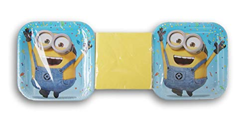 Despicable Me Minions Party Supply Kit - (16) Cake Plates and (30) Beverage Napkins
