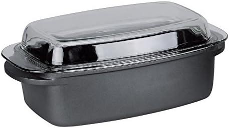 Nea fundido antiadherente fuente para horno con tapa de cristal ...
