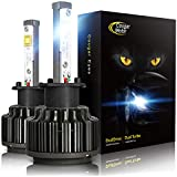 Cougar Motor H3 LED Headlight Bulbs, 7200Lm 6K Xenon White All-in-One Conversion Kit