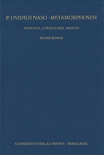 Metamorphosen: Addenda Und Corrigenda (Wissenschaftliche Kommentare Zu Griechischen Und Lateinischen Schriftstellern) (German Edition)
